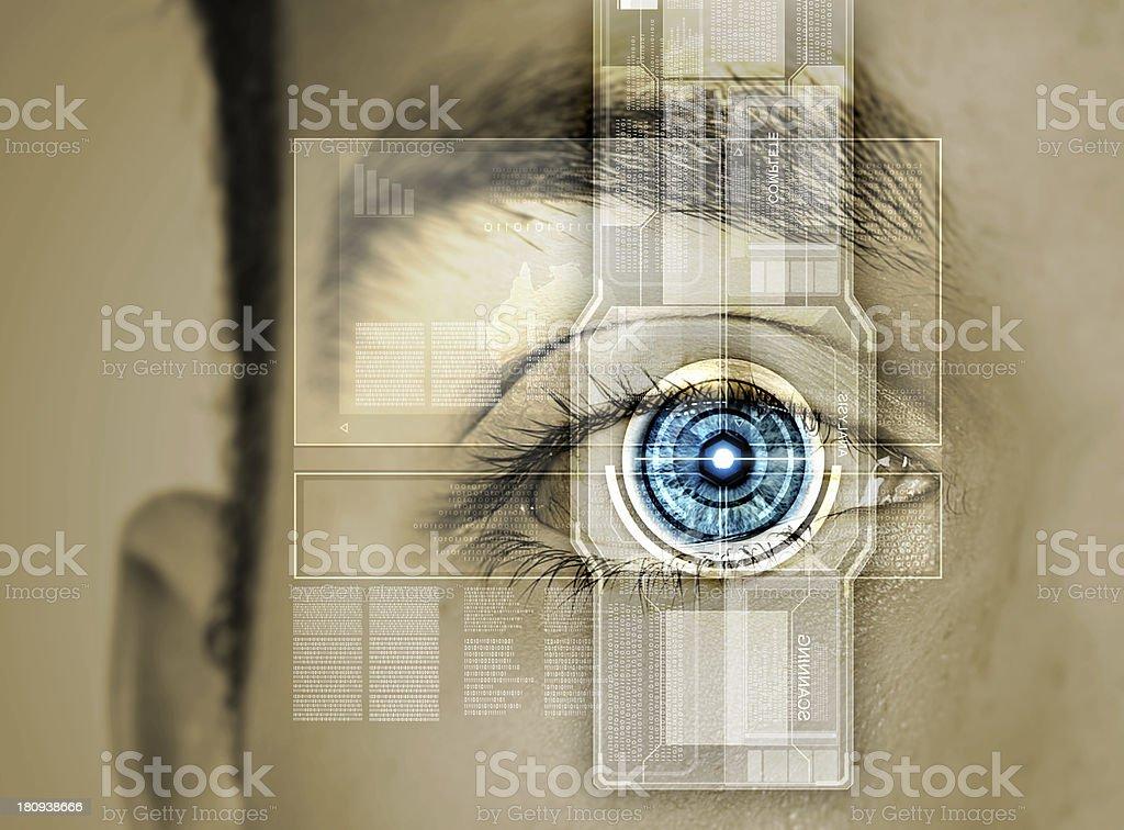 Identification of eye royalty-free stock photo