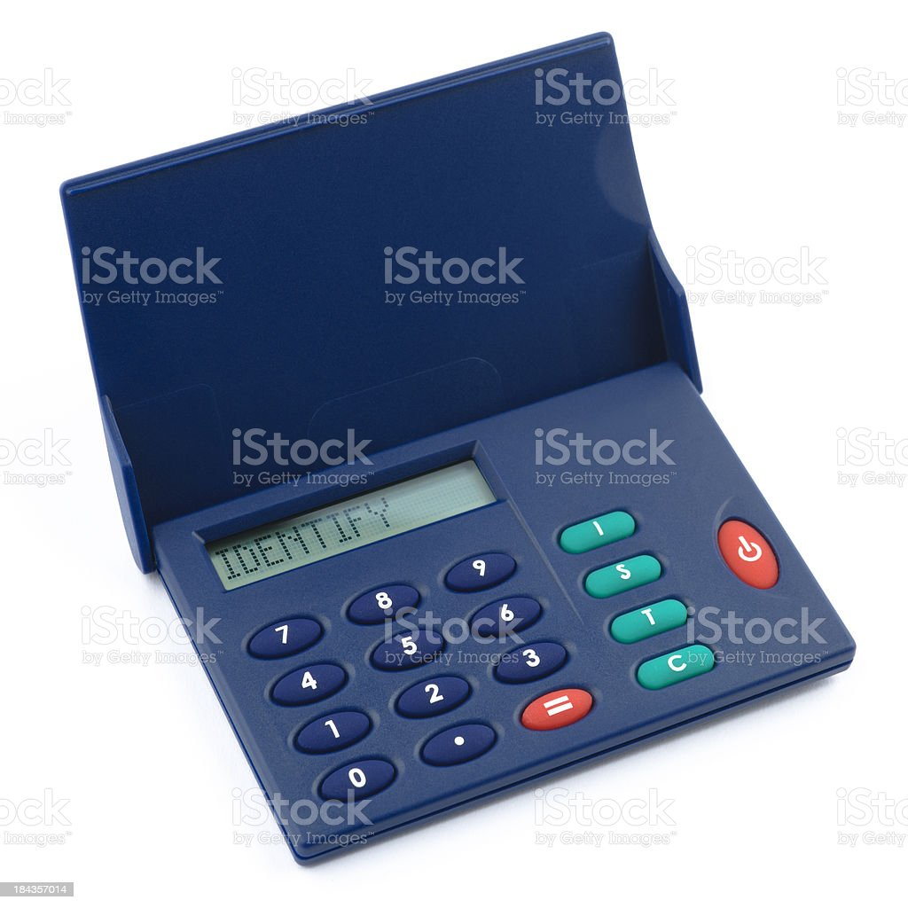 identifier | internet banking security device with clippingpath stock photo