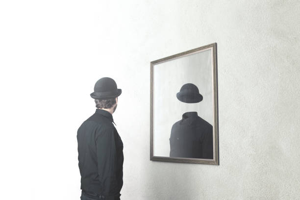 Identity absence surreal concept man in front of mirror reflecting picture id898703636?b=1&k=6&m=898703636&s=612x612&w=0&h= 2 3 m3djhnqvin9ojsuwig mfvvfdjjeoetafdkzbe=
