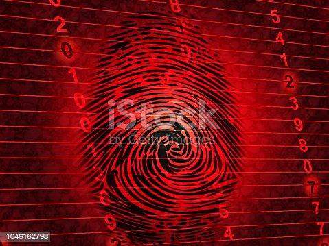 istock Identity Access Management Fingerprint Entry 3d Illustration 1046162798