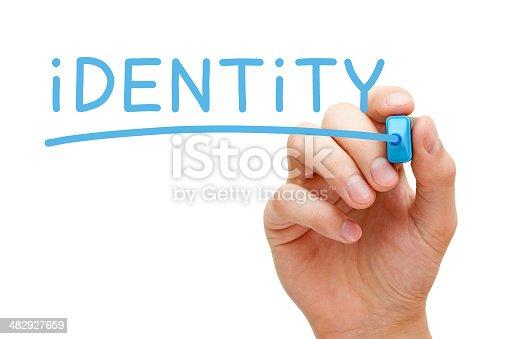 istock Identity Blue Marker 482927659