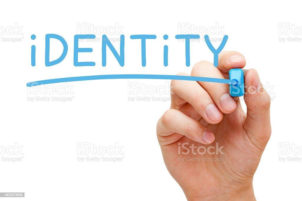 Identity Blue Marker stock photo