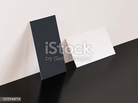 932100364 istock photo Identity Card Mockup Black and White 1212144714