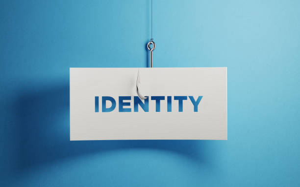 Identity Security And Phishing Concept stock photo
