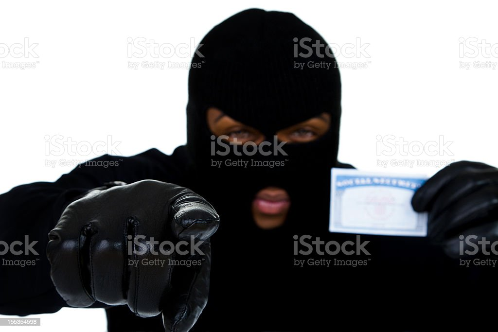 Identity theft concept royalty-free stock photo