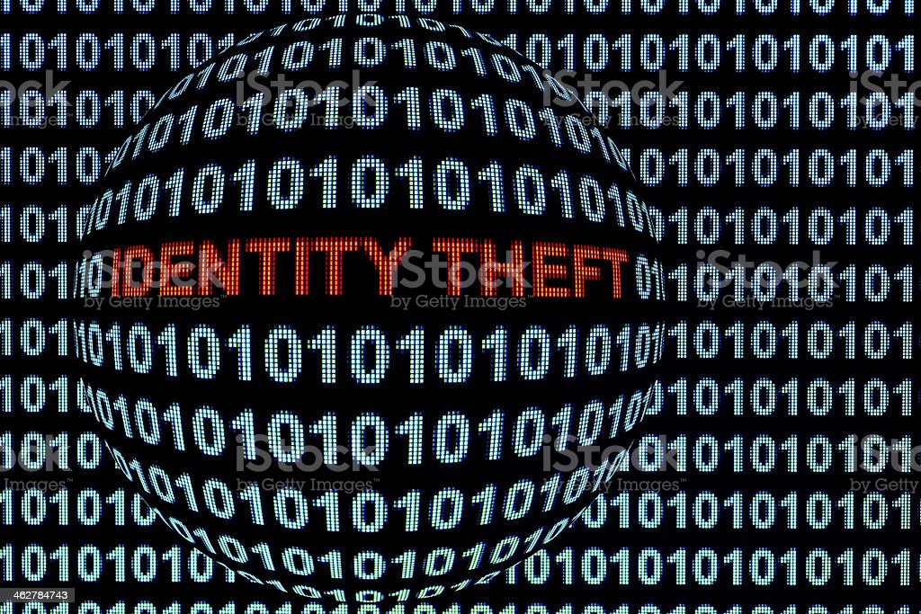 Identity Theft in Red stock photo
