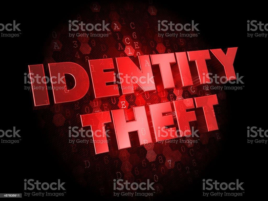 識別盗難にダークデジタル背景。 ストックフォト
