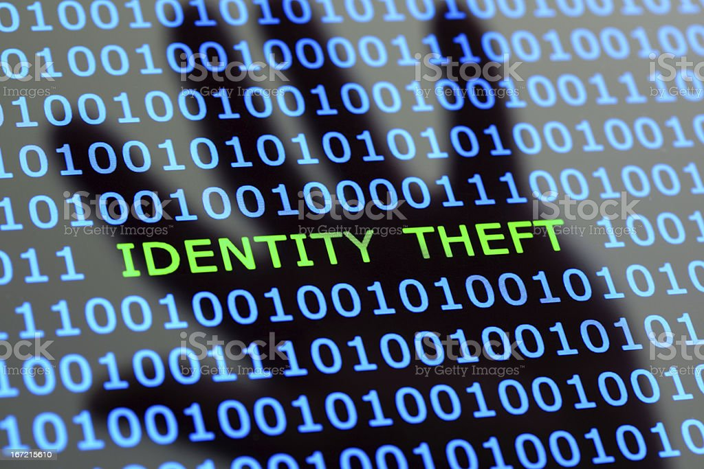 Identity theft online stock photo
