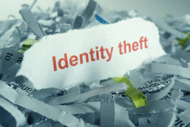 identity theft studio shot of shredded paper identity theft stock pictures, royalty-free photos & images