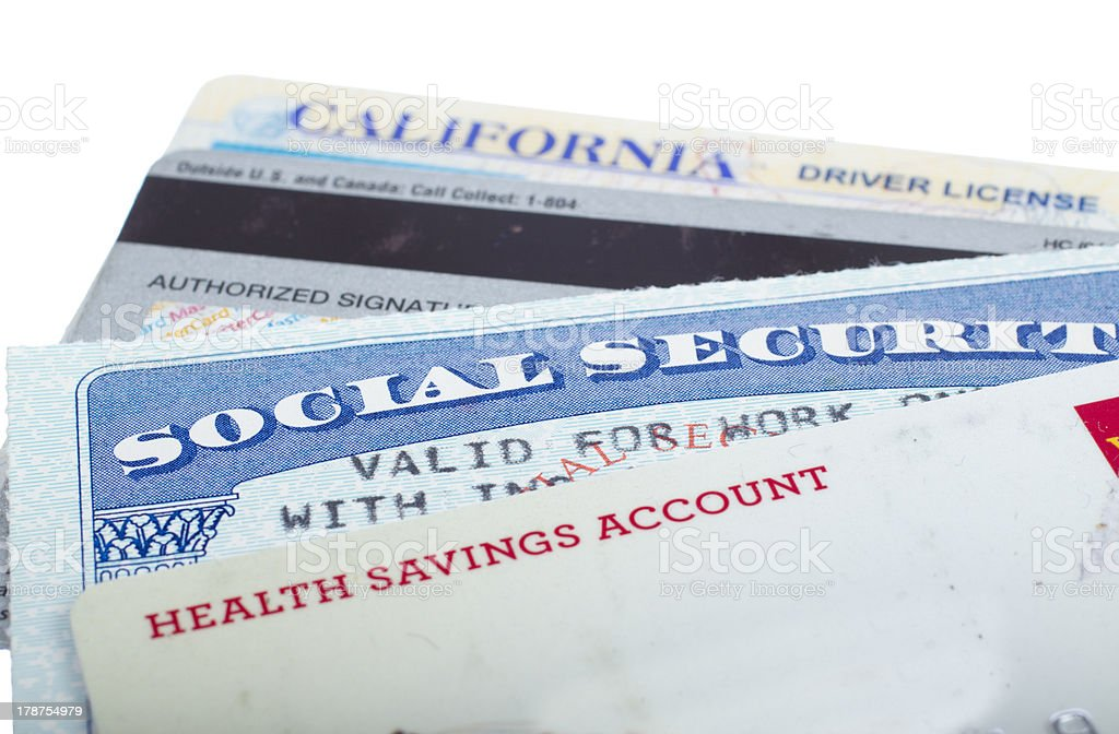 Identity theft. stock photo