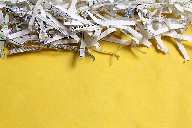 identity theft - shredded paper stock photos and pictures