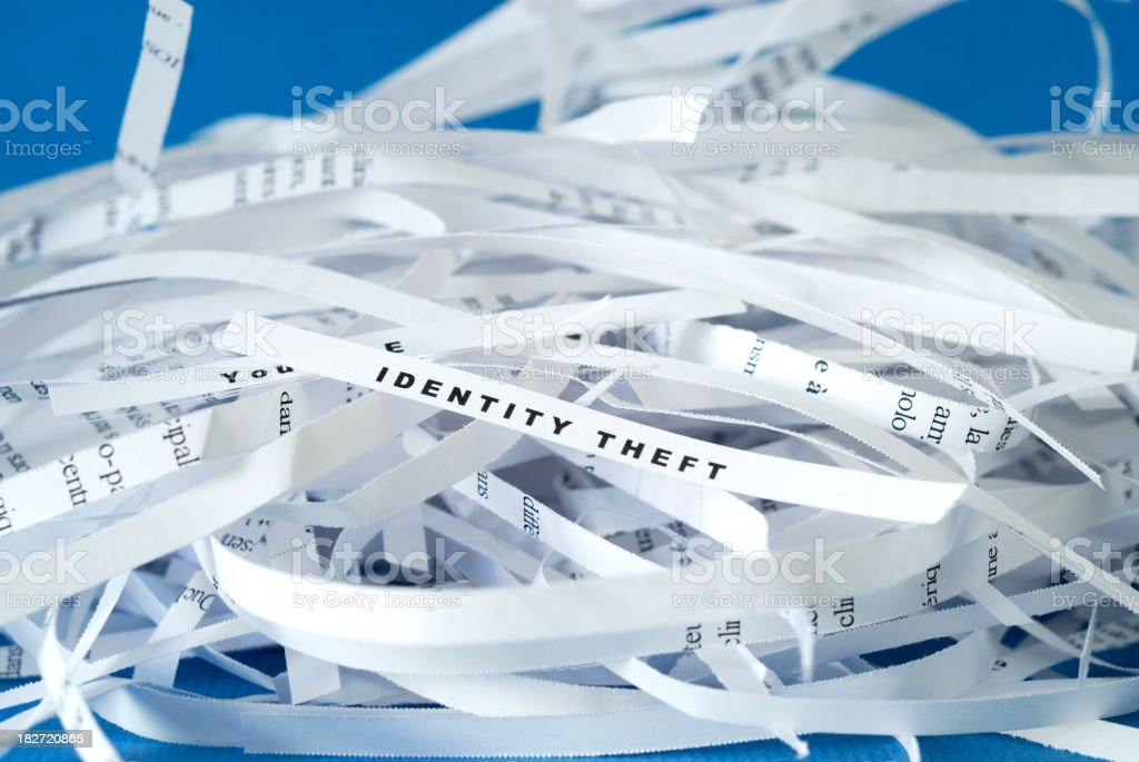 Identity Theft - Shredding royalty-free stock photo