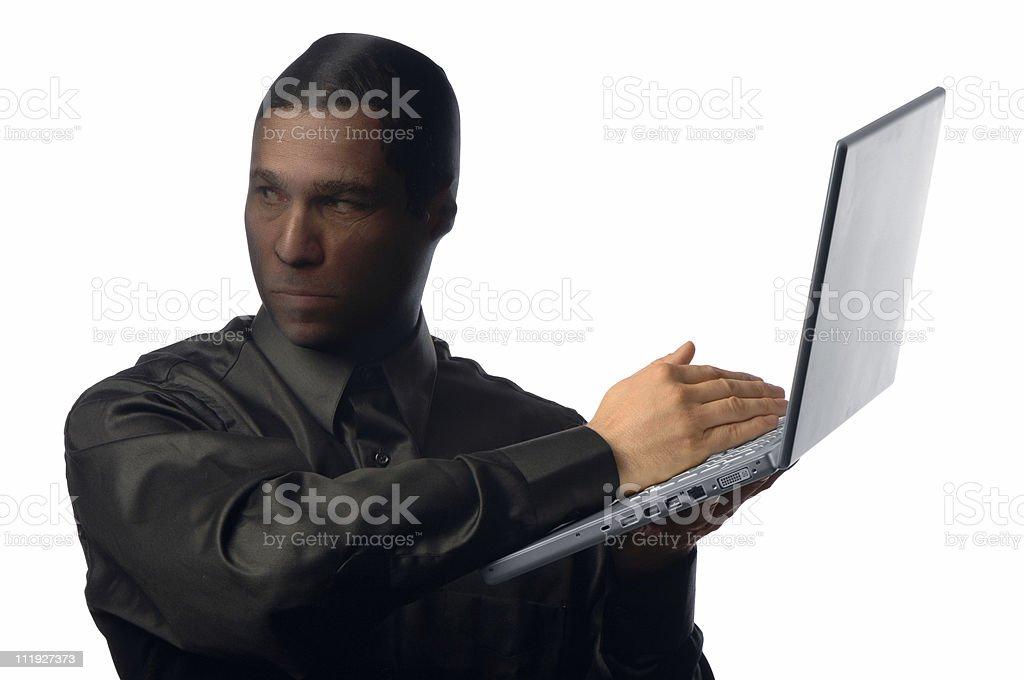 Identity Thief Isolated on White Background royalty-free stock photo
