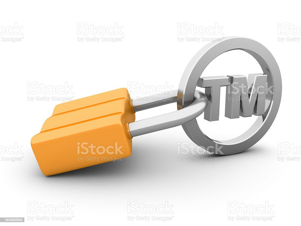 Idiomatic expression to depict the purpose of trademark stock photo
