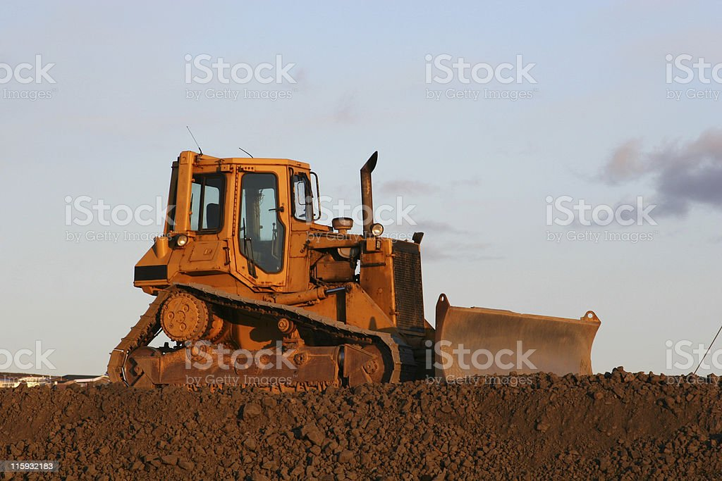 idle bulldozer royalty-free stock photo