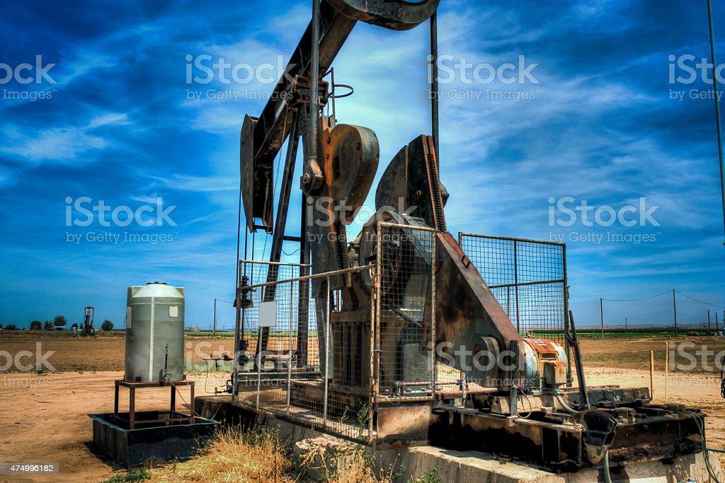 Idle oil pumper stock photo