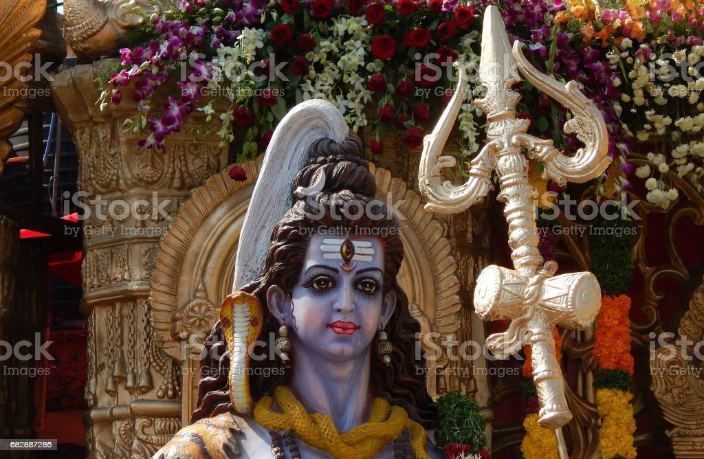 Idol of Hindu God Shiva stock photo