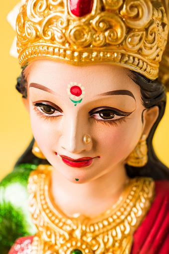 Idol Worshipping Of Hindu Goddess Lakshmi Lakshmi Puja Is A
