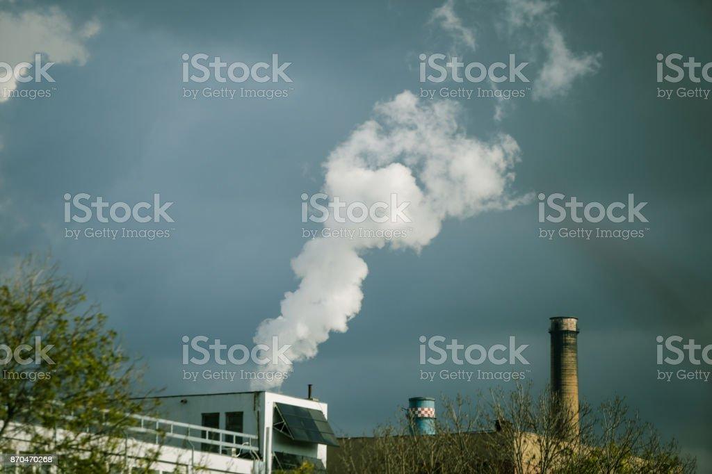 Idustrial chimney stock photo