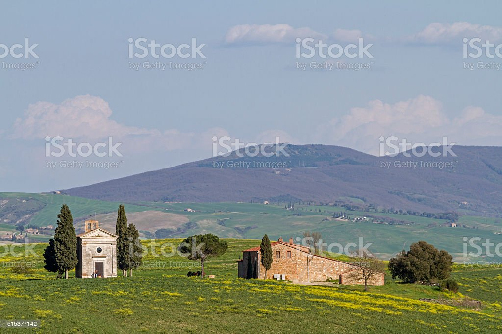 idyl in Tuscany stock photo