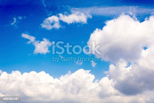 istock Idylic clouds 486360487