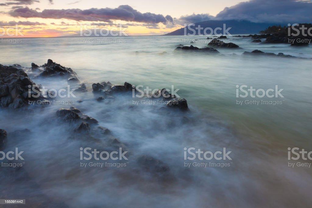idylic maui coastline - hawaii, kihei royalty-free stock photo