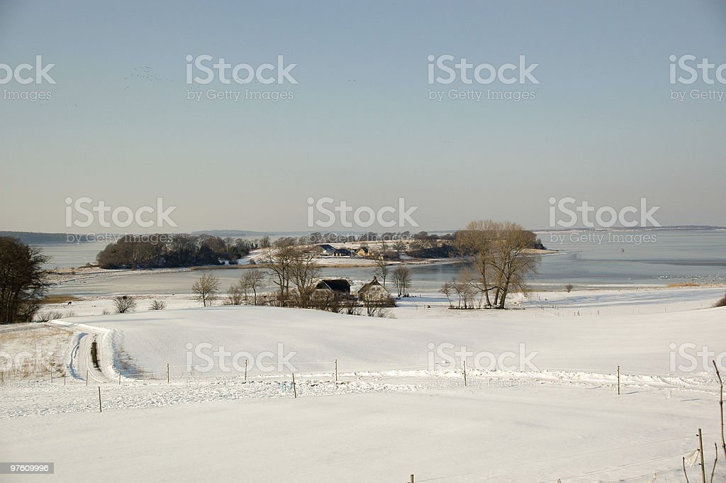 Idylic winter landscape royalty-free stock photo