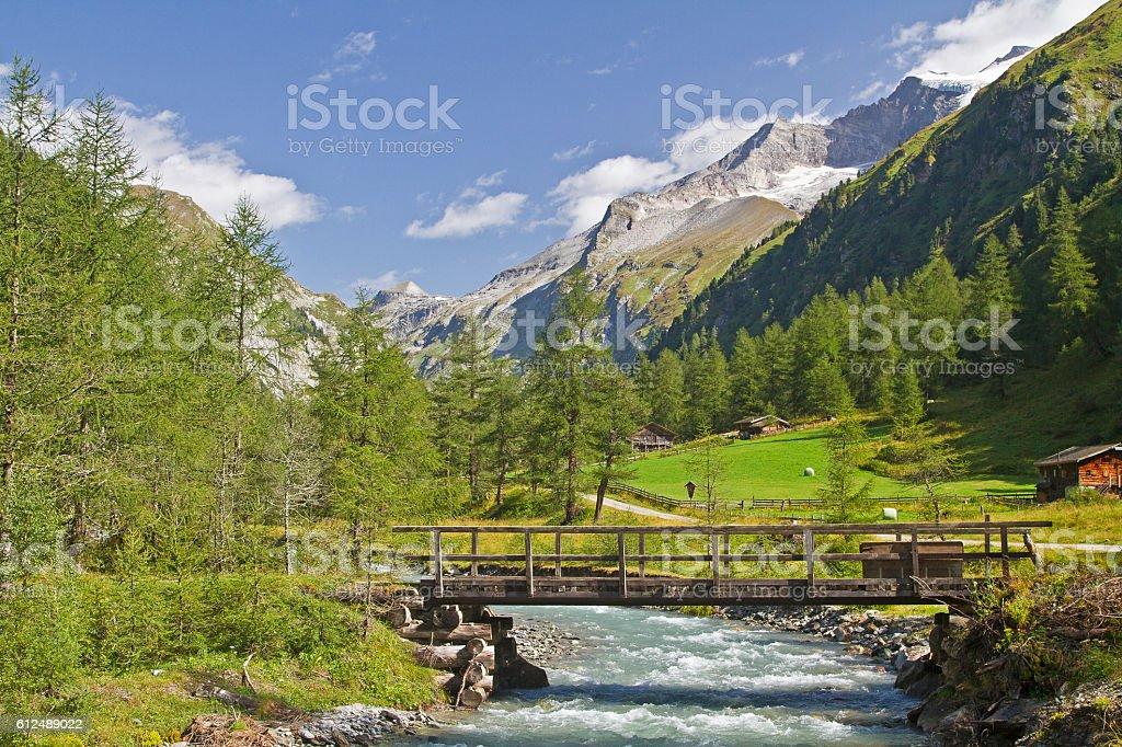 Idyll in Dorfen valley stock photo