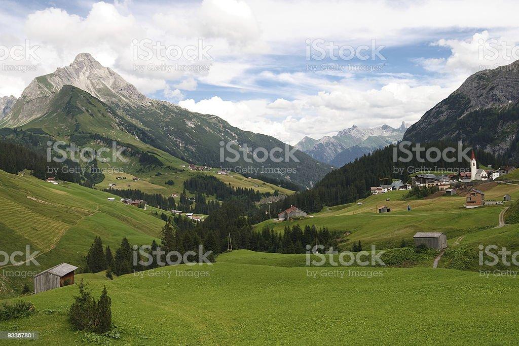 Idyllic Alpine Village in Austria royalty-free stock photo