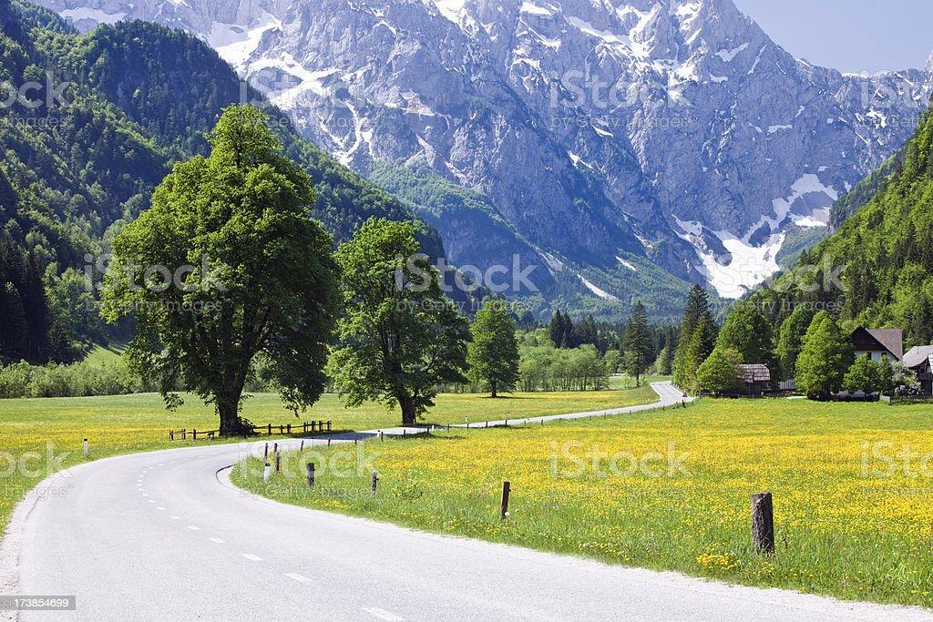 Idyllic Alps valley royalty-free stock photo