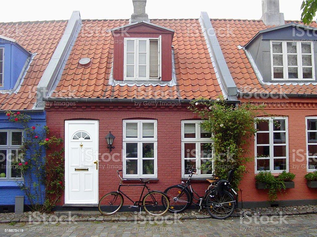 Idyllic and calm - Village life - Aarhus stock photo