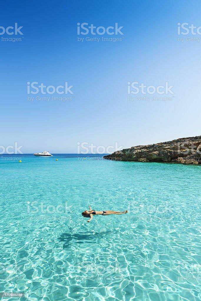 Idyllic and relaxing holidays stock photo