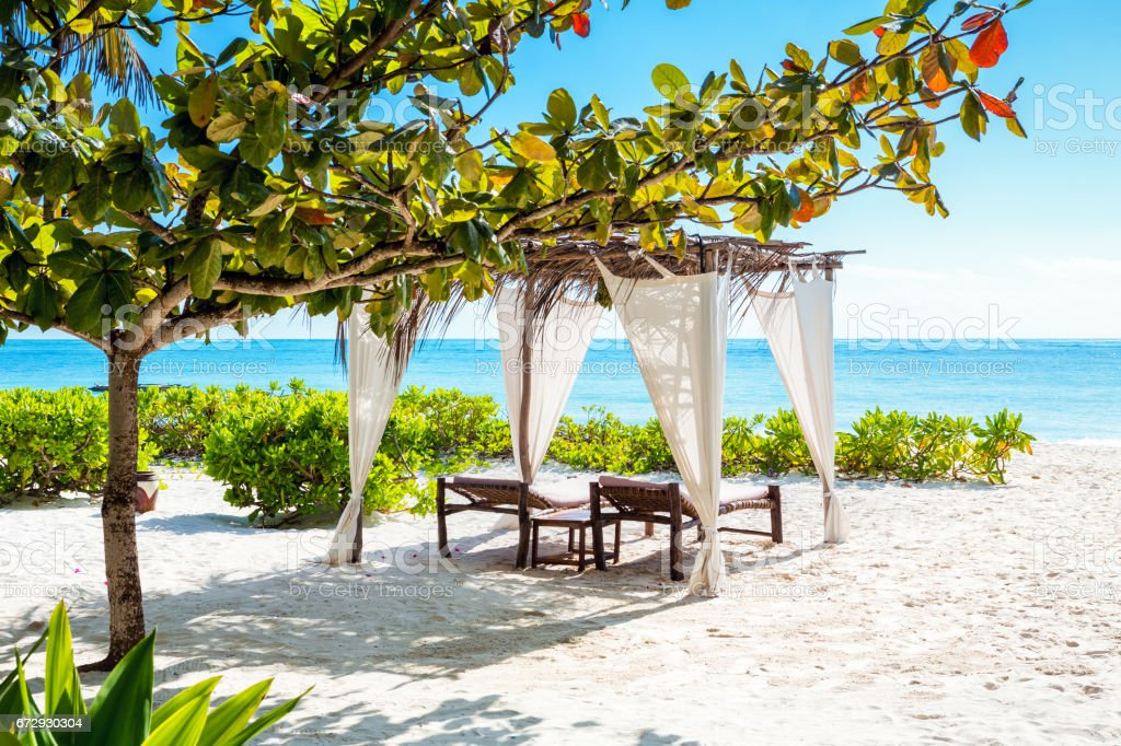 Idyllic Beach On Zanzibar Island stock photo