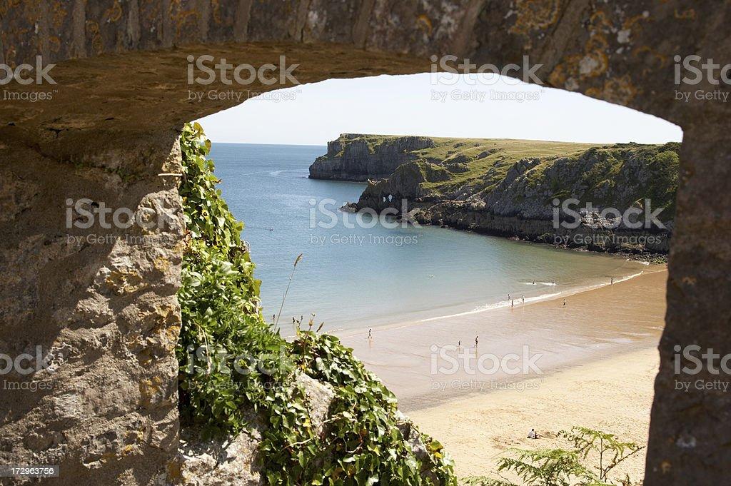 Idyllic beach scene stock photo