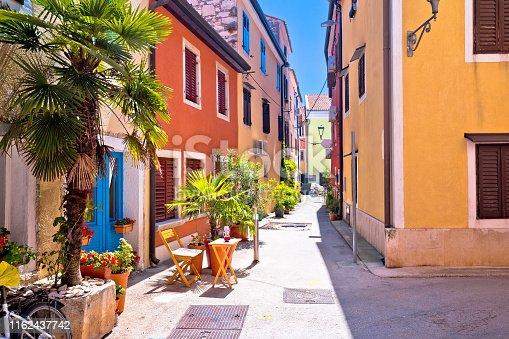 istock Idyllic colorful mediterranean street of Novigrad Istarski 1162437742