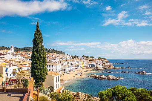Idyllic Costa Brava Seaside Town In Girona Province Catalonia Stock Photo - Download Image Now