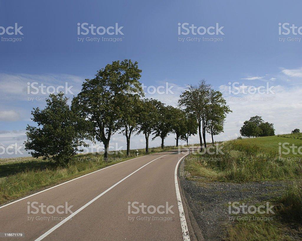 Idyllic Country road stock photo