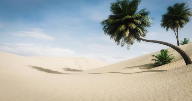 Idyllic Desert Landscape stock photo