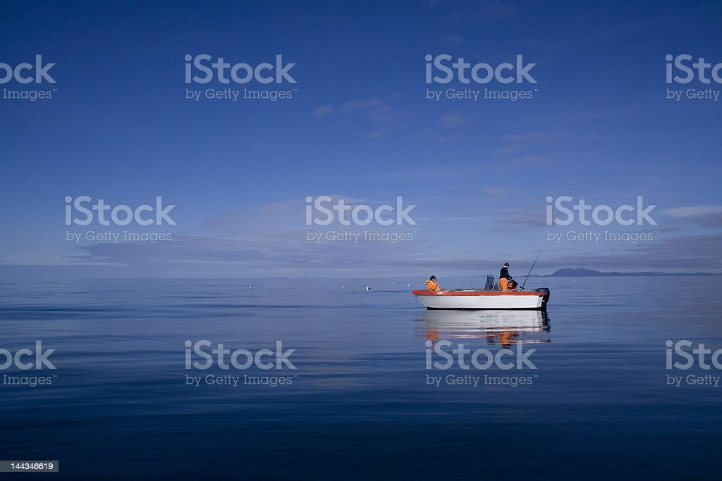 Idyllic Fishing Scenery – Norwegian Coast royalty-free stock photo