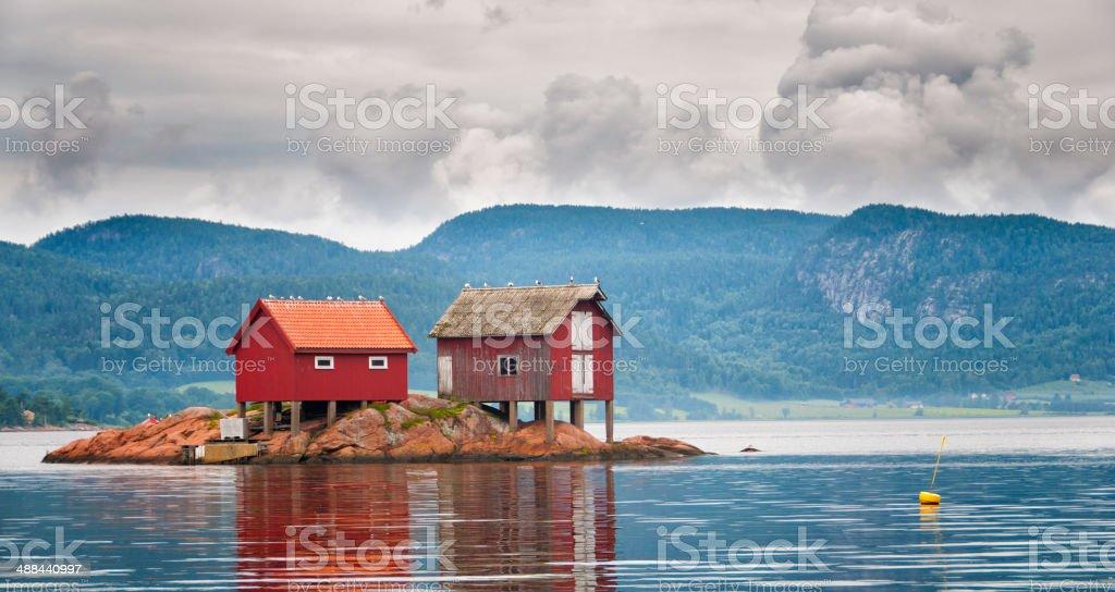 Idyllic Fjord Islet royalty-free stock photo