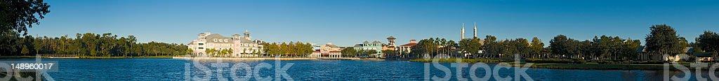 Idyllic Florida lakeside town stock photo