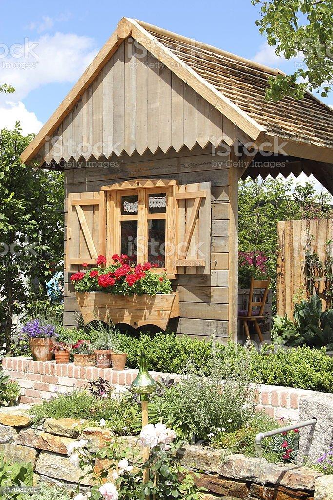 Idyllic Garden house royalty-free stock photo