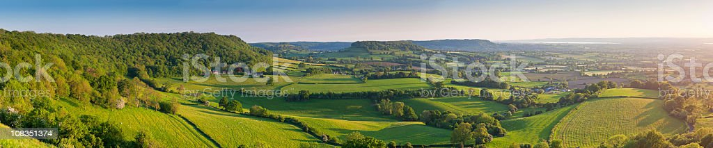 Idyllic gently rolling landscape royalty-free stock photo