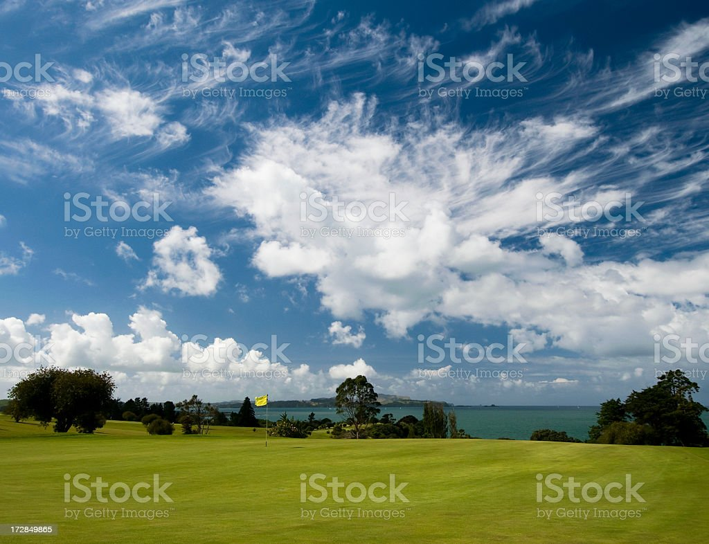 Idyllic Golf Green royalty-free stock photo