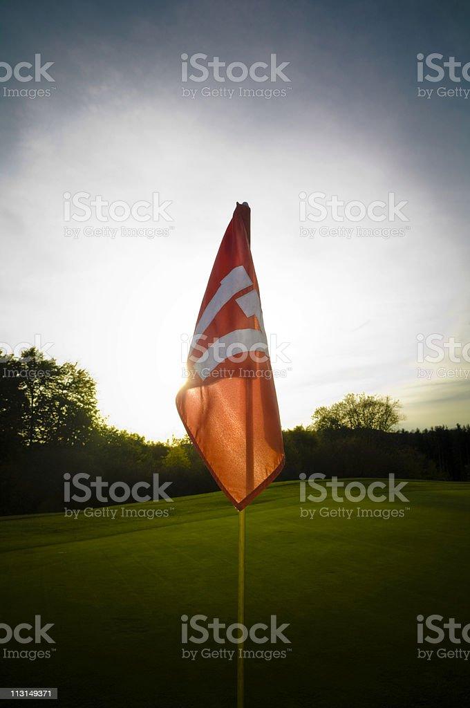 Idyllic Golfing royalty-free stock photo