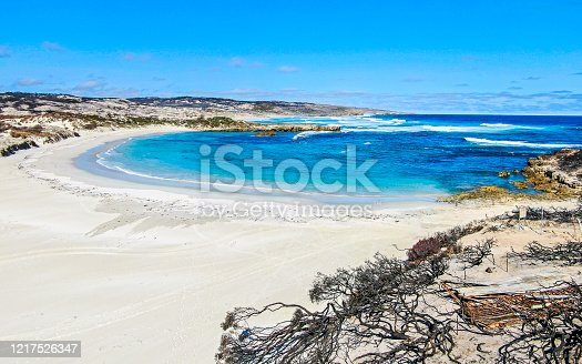 470521655 istock photo Idyllic Hanson Bay, Kangaroo Island SA after the terrible summer fire 1217526347