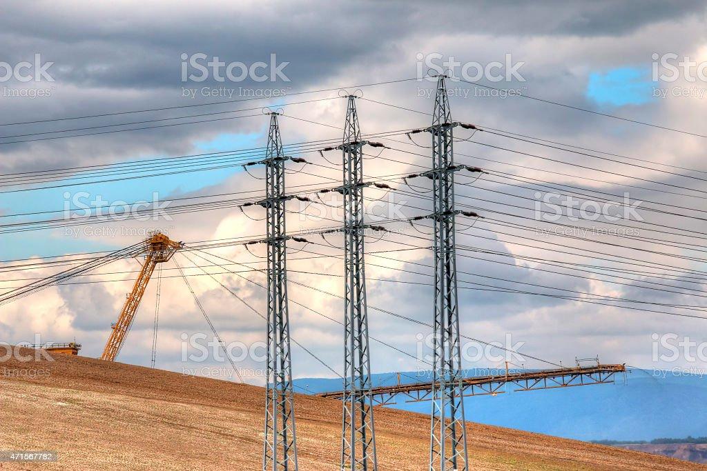 Idyllic Industrial Landscape stock photo