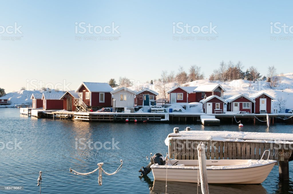 Idyllic island houses royalty-free stock photo