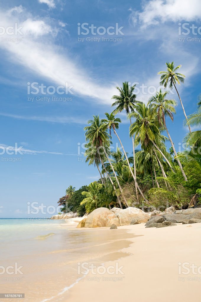 Idyllic Island Tropical Paradise stock photo