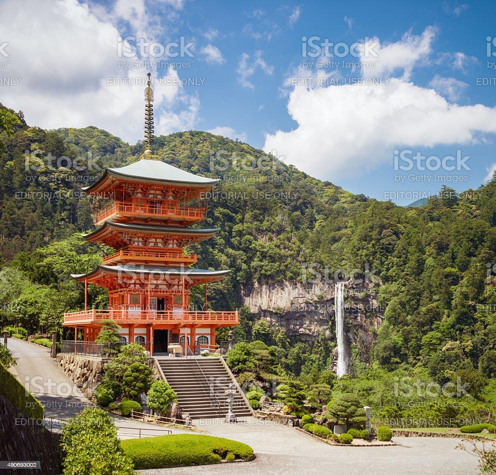 Idyllic Japan - Sanjūdō Pagoda, Kumano Nachi Taisha stock photo